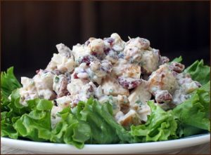 Chicken Salad with Grapes, Almonds and Homemade Mayo