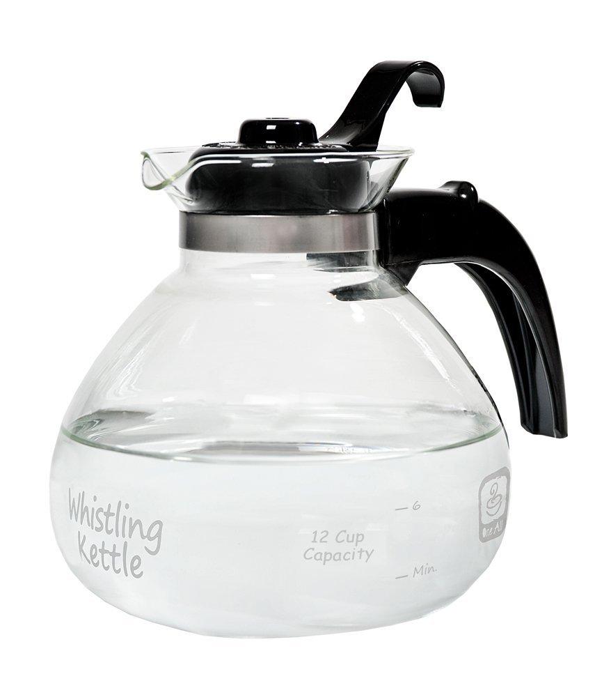 Medelco Glass Whistling Kettle