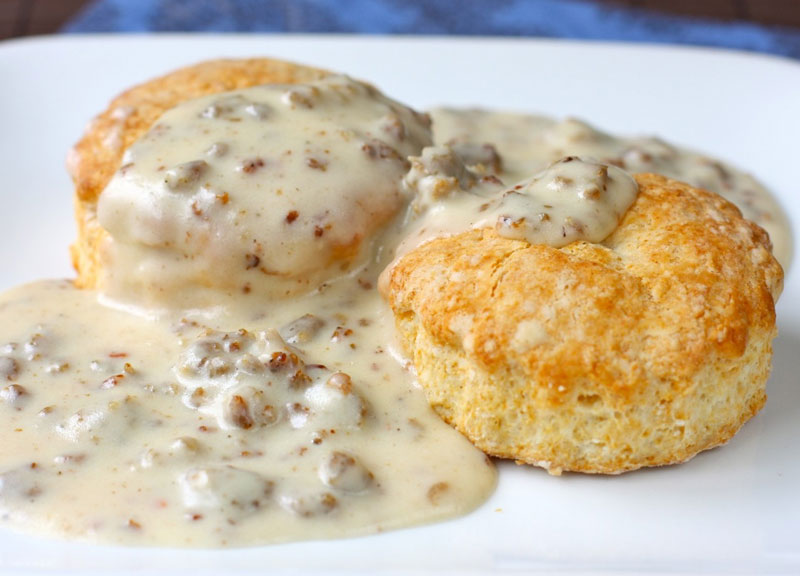 Biscuits and gravy for Mom