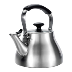 OXO Brew Classic Whistling Tea Kettle - 1.7 Quart Brushed Stainless Steel