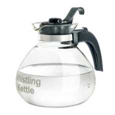 Medelco 48 oz Glass Stovetop Whistling Kettle